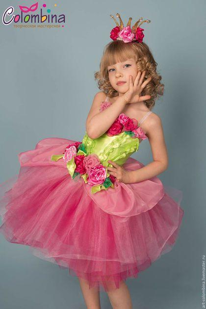 Детские карнавальные костюмы ручной работы. Ярмарка Мастеров - ручная работа. Купить Костюм принцессы роз. Handmade. Розовый