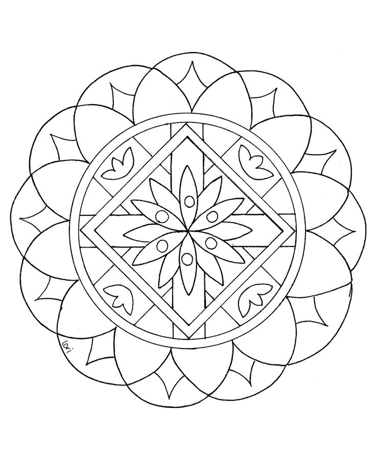 Mandalas for Kids Mandalas for kids, Simple mandala