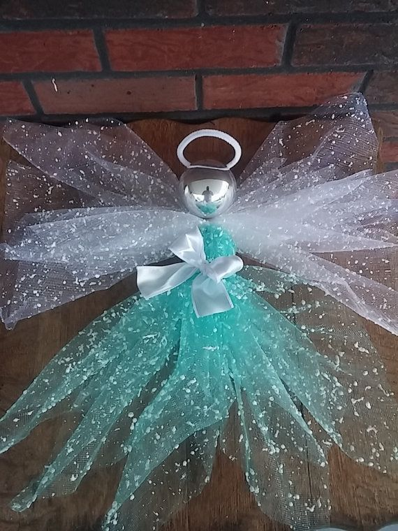 Angel deco mesh angel tree topper Christmas by SageSensations