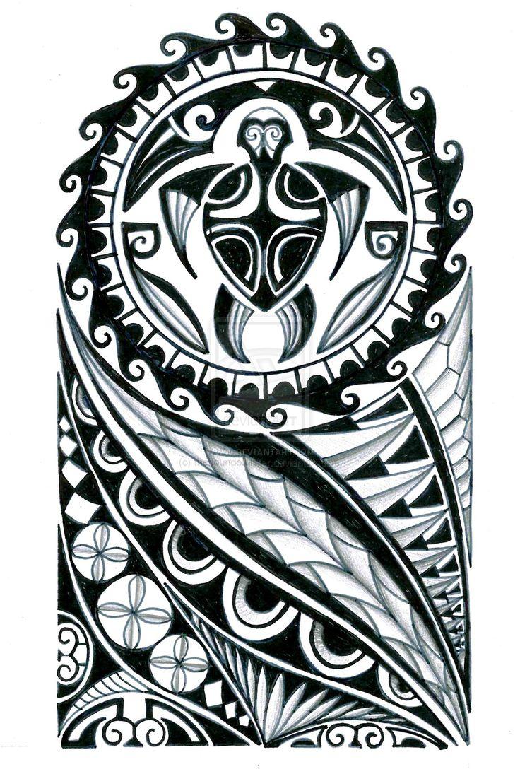 polynesian_half_sleeve_tattoo_design_by_thehoundofulster-d897oep.jpg (1024×1524)