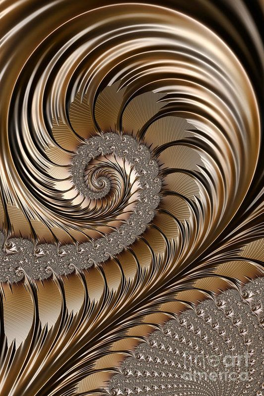 Bronze Scrolls Abstract Print by John Edwards.  All prints are professionally printed, packaged, and shipped within 3 - 4 business days. Choose from multiple sizes and hundreds of frame and mat options.