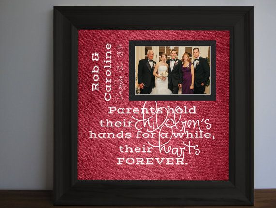 Parents Wedding frame Thank you parent gift Custom by framedaeon ...