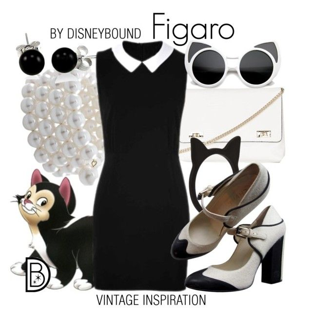 """""""Figaro"""" by leslieakay ❤ liked on Polyvore featuring Disney, Carolee, Topshop, Bling Jewelry, Forever 21, Chanel, vintage, disney and disneybound"""