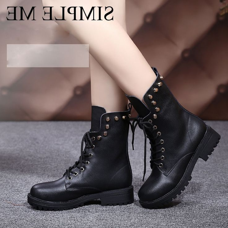 38.12$  Buy here - https://alitems.com/g/1e8d114494b01f4c715516525dc3e8/?i=5&ulp=https%3A%2F%2Fwww.aliexpress.com%2Fitem%2F2016-Extra-Big-Size-Rivets-Martin-Boots-for-Women-Military-Boots-with-Fur-Tactical-Boots-Good%2F32747417561.html - 2016 Extra Big Size Rivets Martin Boots for Women Military Boots with Fur Tactical Boots Good Quality Botas Mujer Size 41.42.43