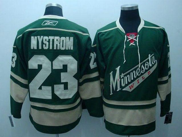 Minnesota Wild 23 Eric NYSTROM Third Jersey Green