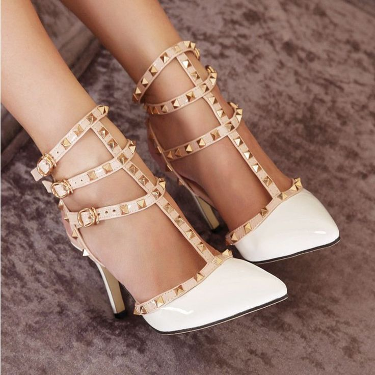 Casual Multi Strap Cut Out Rivets Women Shoes