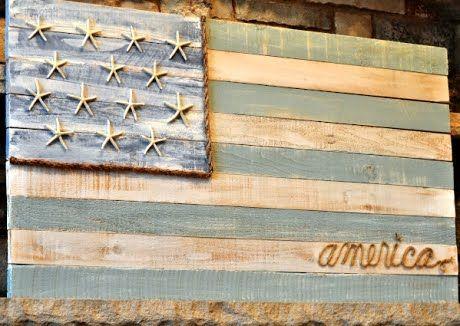 Beachy American flag