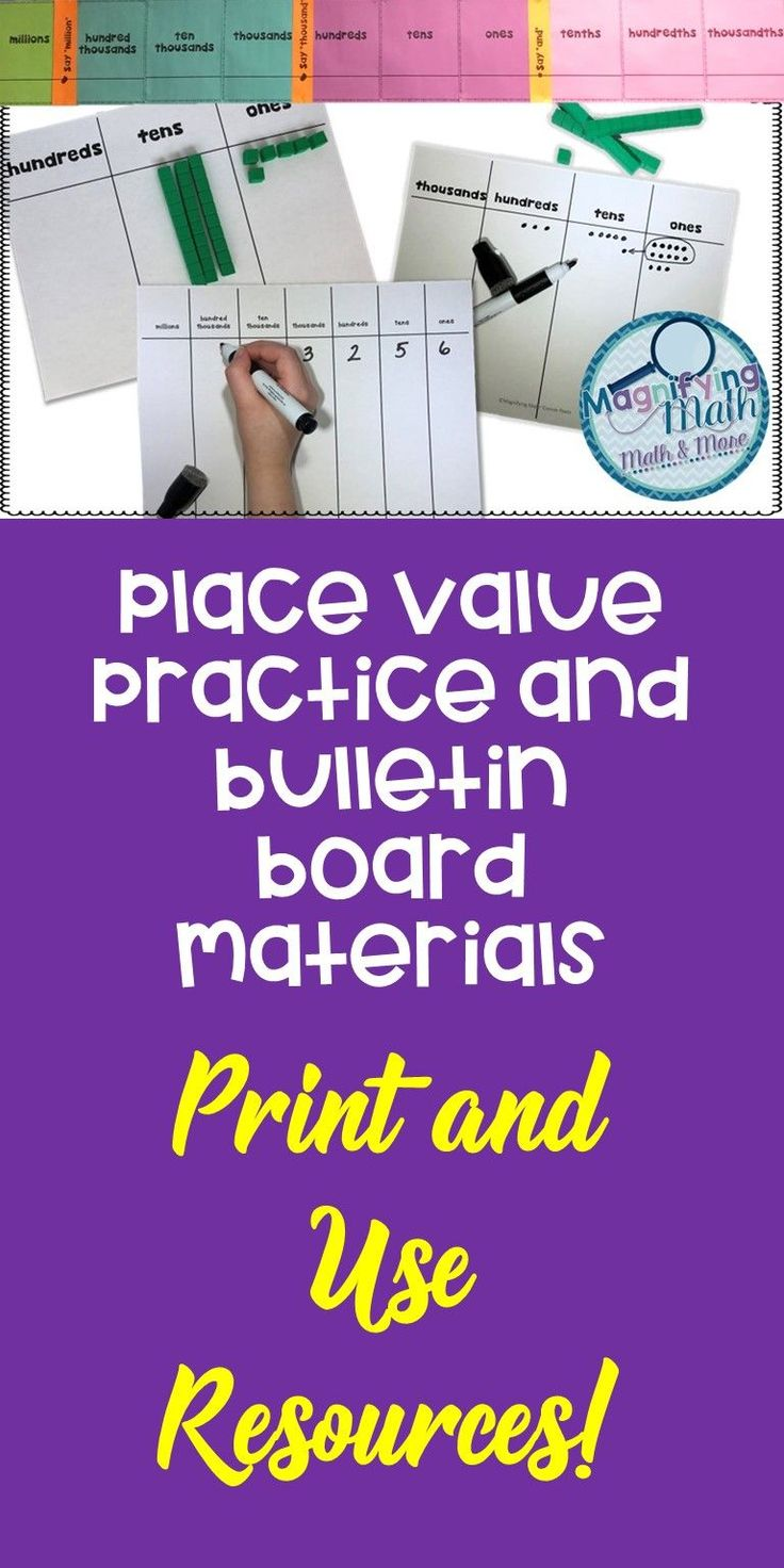 The 25 best place value chart ideas on pinterest place value in place value templates and bulletin board grades 2 6 nvjuhfo Choice Image