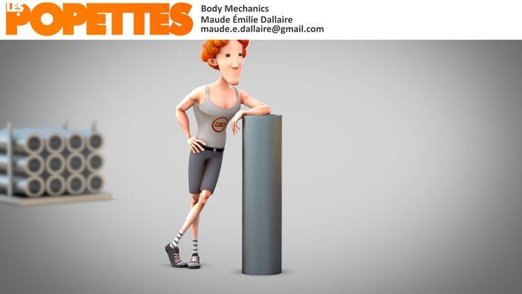 LES POPETTES -  SUMMER 2014  - Maude-Émilie Dallaire - Body Mechanics | Squeeze Studio Animation.