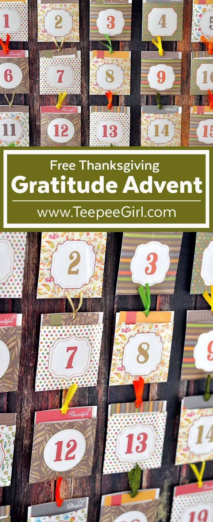 Free Thanksgiving Advent {Blessing Countdown}