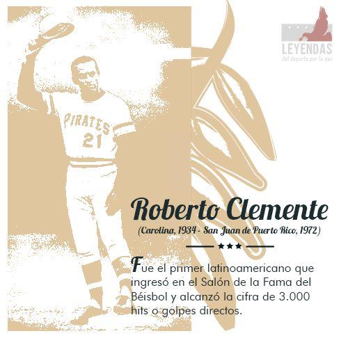 ¿Sabías que Roberto Clemente fue el primer Latinoamericano que ingresó en el Salón de la Fama del Béisbol y alcanzó la cifra de 3.000 hits o golpes directos? #LeyendasDePaz