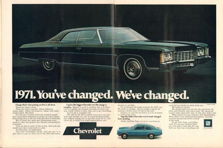 https://flic.kr/p/P846Xs | 1971 Chevrolet Caprice and Vega Advertisement Time Magazine January 11 1971 | 1971 Chevrolet Caprice and Vega Advertisement Time Magazine January 11 1971