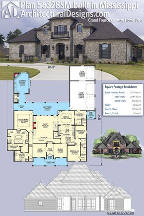 plan 56328sm grand french country home plan in 2018 dream homes rh pinterest com