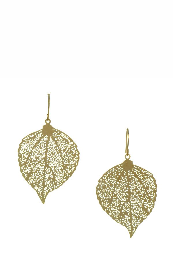 Harry and Zoe - Metallic Leaf Earrings, $9.00 (http://www.harryandzoe.com/metallic-leaf-earrings/)