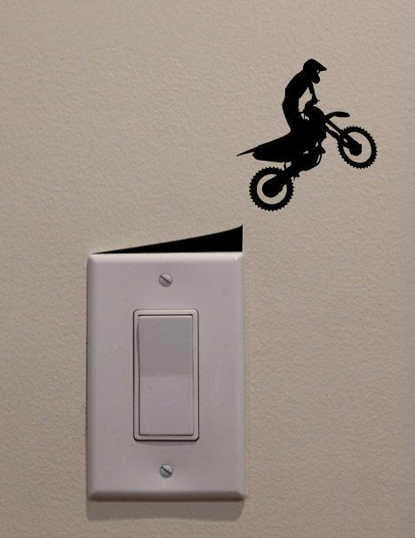 Motocross Racer Jumping Straight Off Ramp on by DecalPhanatics