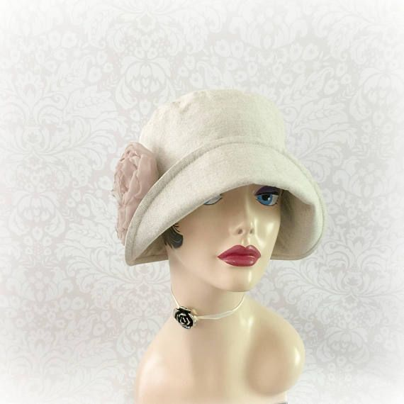 HANDMADE IN THE USA SIZE Small READY TO SHIP The lovely Eleanor, a simple yet stunning design, a neutral hat to frame your face, cool elegant linen and great sun protection. This couture hat is handmade with a beige linen, it is fully lined in a lightweight cotton. A super