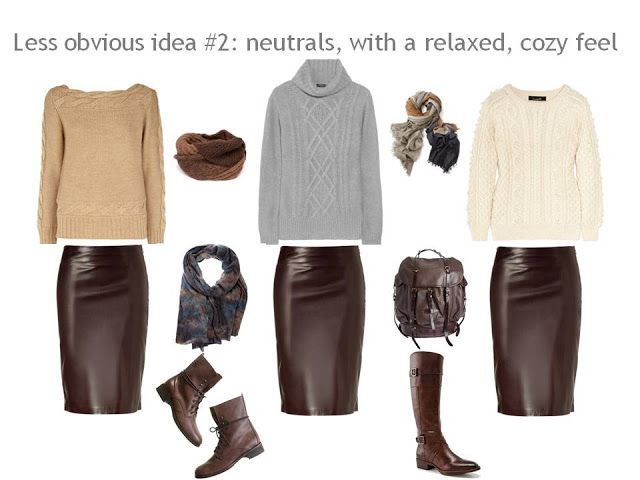 3 great looks for a brown leather skirt | The Vivienne Files