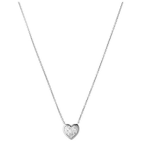 Links of London Diamond Essentials Sterling & Pave Heart Necklace in... ($275) ❤ liked on Polyvore featuring jewelry, necklaces, silver, pave heart necklace, heart necklace, sparkly necklace, silver heart jewelry and silver heart shaped necklace
