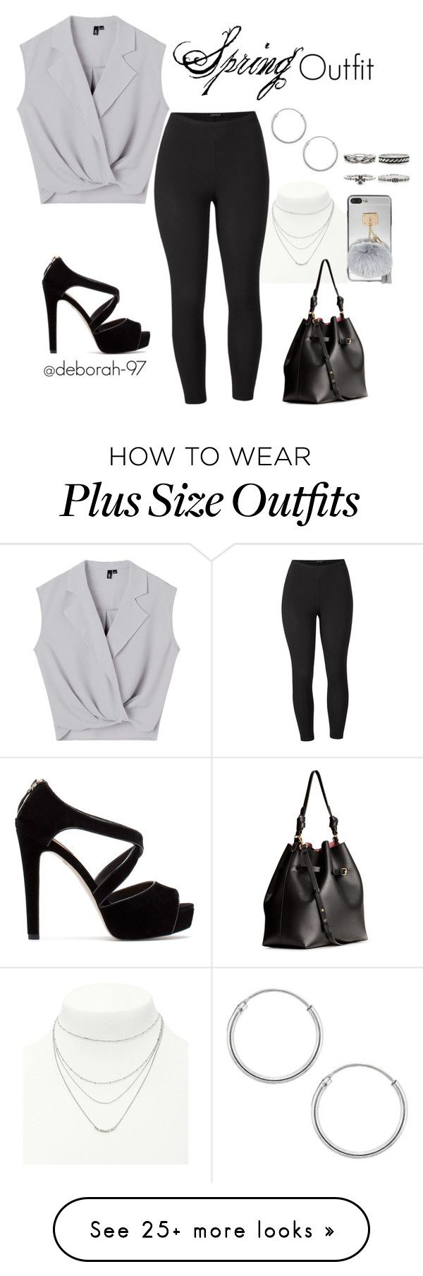 """Spring Outfit #2"" by deborah-97 on Polyvore featuring Sevil Designs, Forever 21, Venus, Pull&Bear, H&M and plus size clothing"