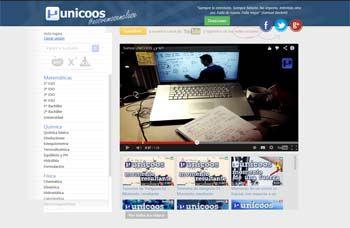 Unicoos es un portal de vídeos para Secundaria, Bachillerato y Universidad para las asignaturas de Matemáticas, Física y Química.