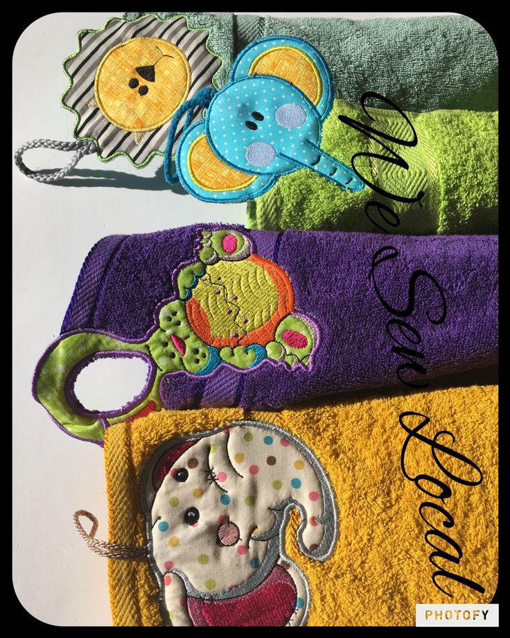 Assorted Hand Towel Toppers $14 Can be added to a Bath Towel,  just email us