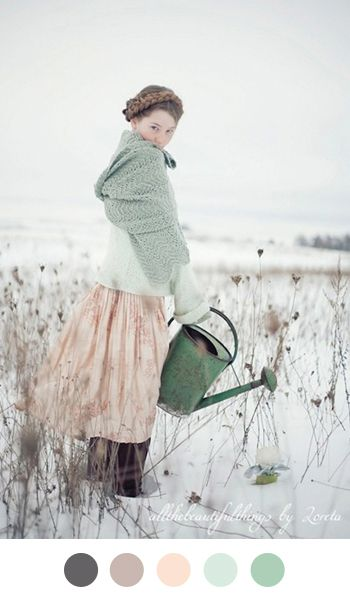Love the muted colors in this! And that vintage soft look is gorgeous!