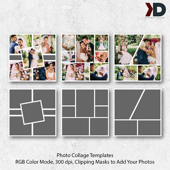 Items Similar To 12x12 Digital Collages Digital Storyboard Wedding Photo Collage Templates Photo Collages Collage Templates Pack Photography Template On Et Ahsap Isleri