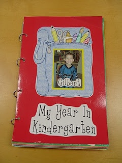 Scrapbook of Kindergarten- if Poppie's teacher doesnt do this I am! My teachers in kindergarten & first grade made us photo memory books for all year! I still have them & it is crazy to look back- I LOVE IT!