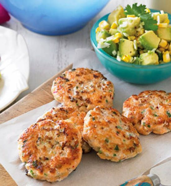 Lime fishcakes with corn salsa and red coleslaw - Better Homes and ...