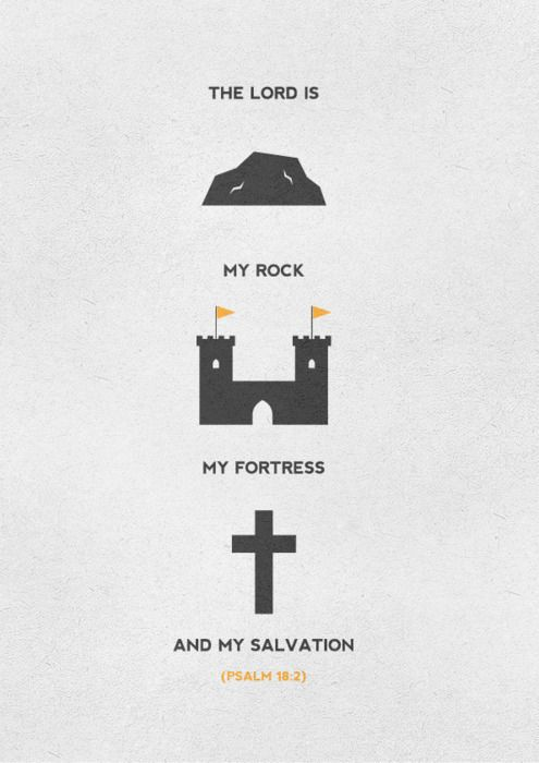 The Lord is rock, fortress, salvation, Psa 18:2, bible, scripture verse