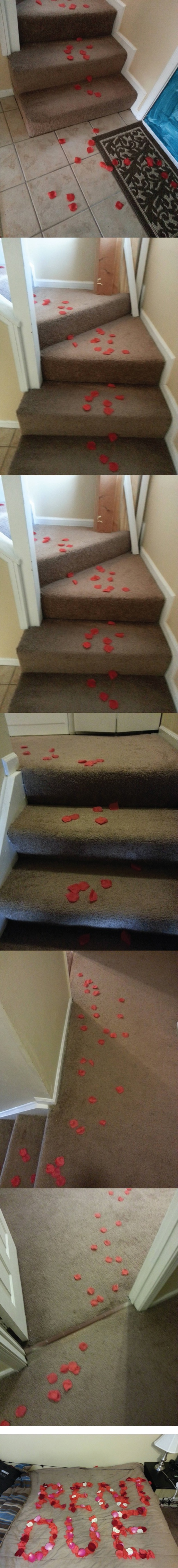 A romantic surprise for the roommate...