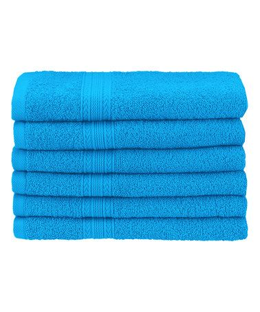 Look what I found on #zulily! Aster Blue Hand Towel - Set of Six #zulilyfinds