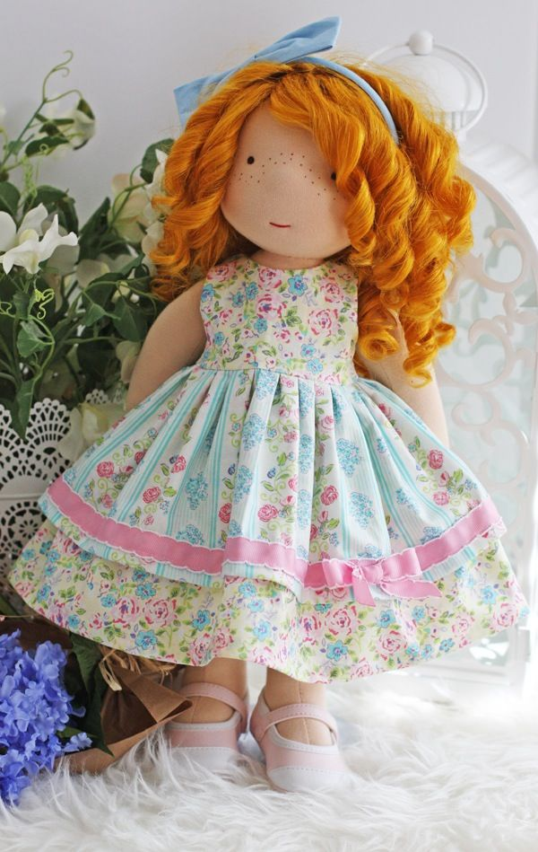 "Image of ""In Monet's Garden Dress"" fits most 17"" - 19"" dolls"
