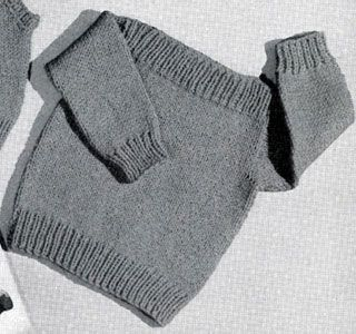 Speed-Knit Pullover knitting pattern from Lacey's Speed Knits for Tiny Tots, originally published by T.M. Lacey, Volume 31.