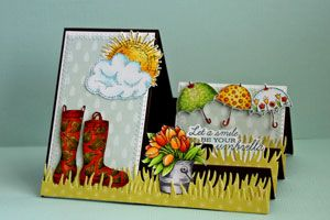 Splitcoaststampers - TSide Step Card tutorial by Beate Johns  @Mft Stamps & Die-namics  @Flourishes,llc Jan Marie