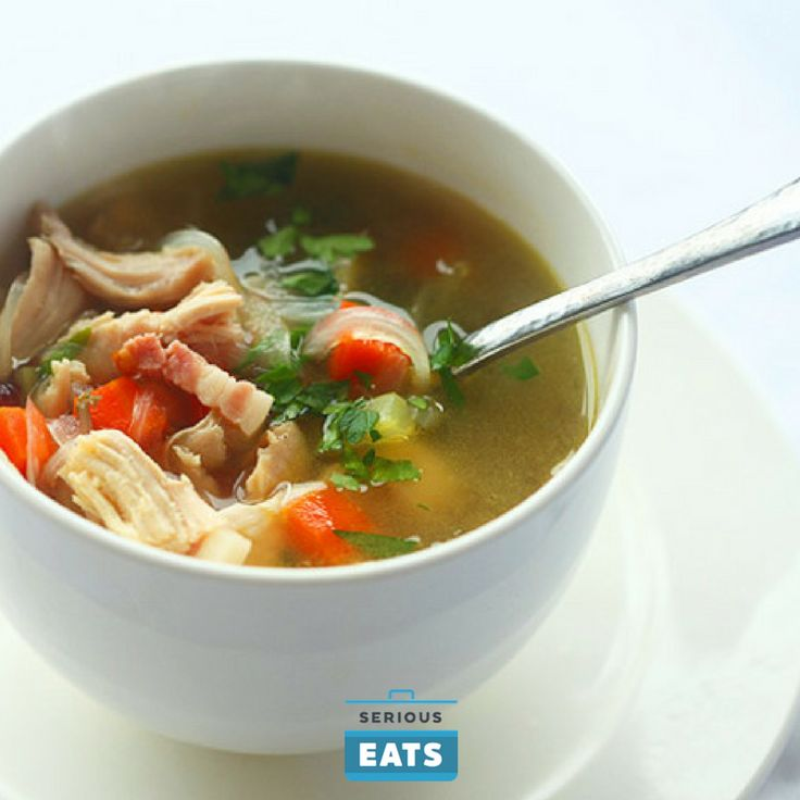 This soup can also be made with a store-bought rotisserie chicken.