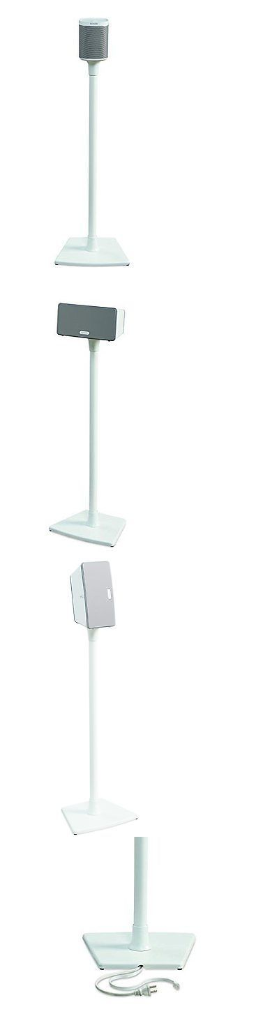 Speaker Mounts and Stands: Sanus Wireless Speaker Stand For Sonos Play 1 And Play 3 - Single (White) -> BUY IT NOW ONLY: $59.99 on eBay!