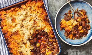 Yotam Ottolenghi's spiced lamb shepherd's pie with butterbean crust.