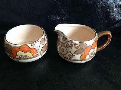 Bursley Ware Charlotte Rhead milk jug and sugar bowl | eBay