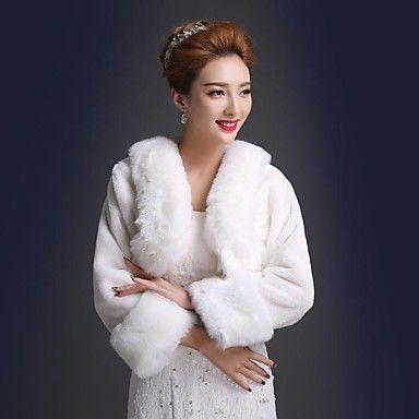 scialle di nozze di eco-pelliccia calda (più colori) – EUR € 14.24