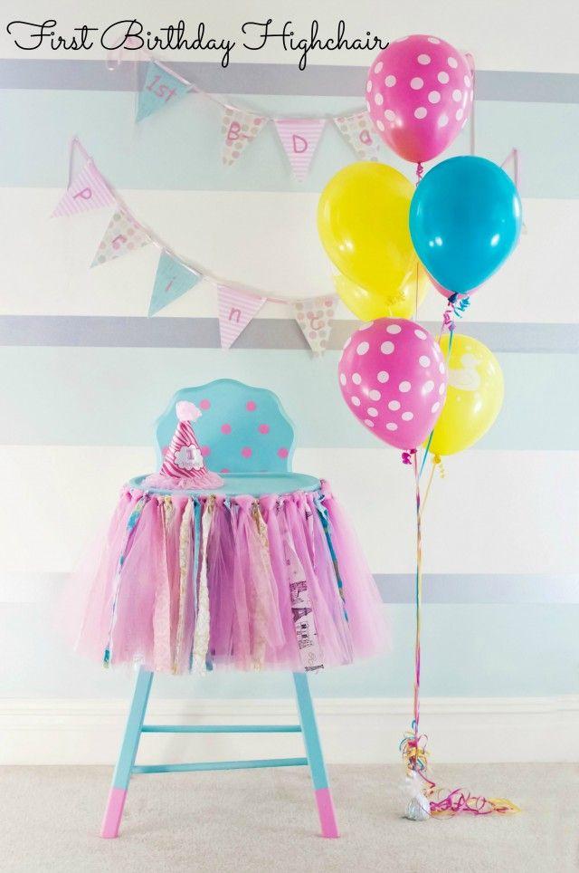 Adorable First Birthday Highchair idea!