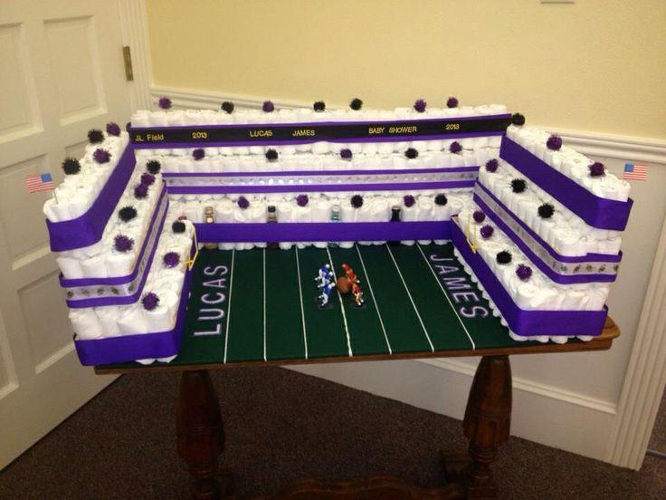 Football Stadium Diaper Cake