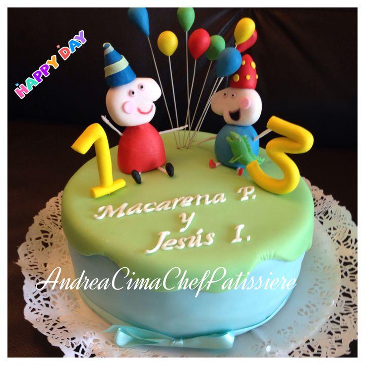 Peppa y George torta #cake