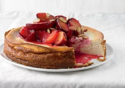Cardamom yogurt cheesecake with caramelized plums | Sweet desserts ...