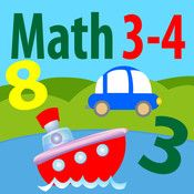 Math is fun: Age 3-4 by Guillaume Joly - Free: teaches children to recognize numbers, count, order numbers and shapes.