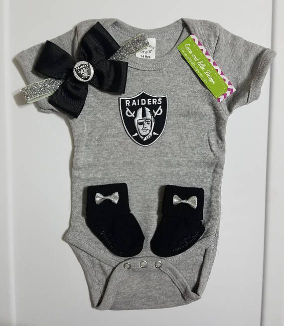 Oakland Raiders baby girl outfit-Oakland Raiders baby girl gift-Raiders girl  take home 701184417