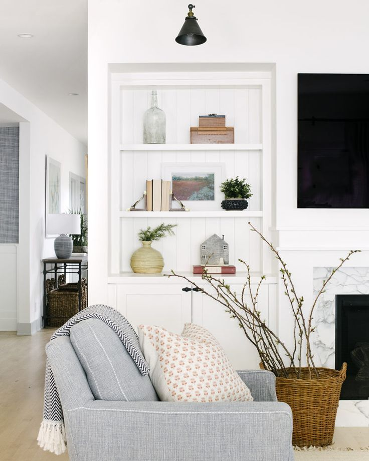 Home Decor Living Room White Minimal Simple Living Room Living