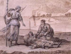 Asclépios Reviving Hippolyte - (Claude Lorrain)