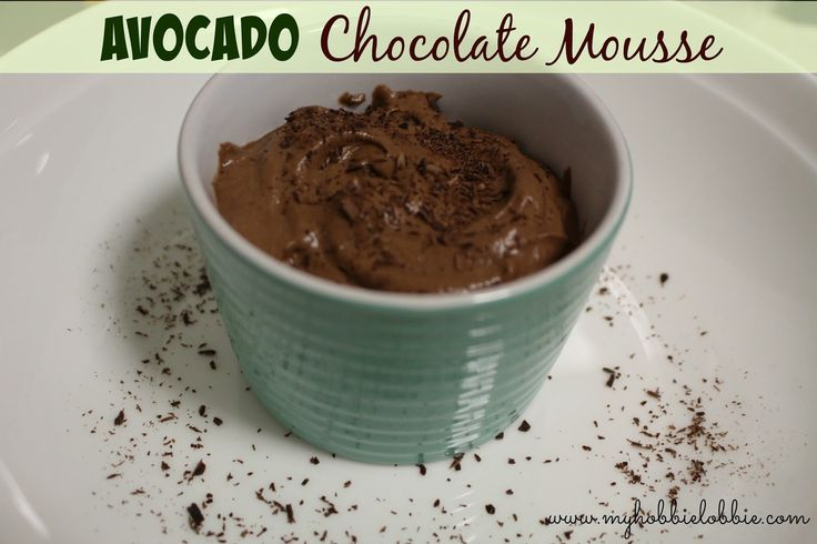 SRC: Avocado Chocolate Mousse ... an egg free recipe - quick, easy and yummy!!!