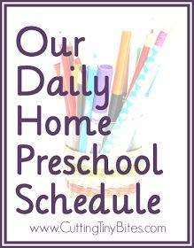 Daily homeschool preschool schedule